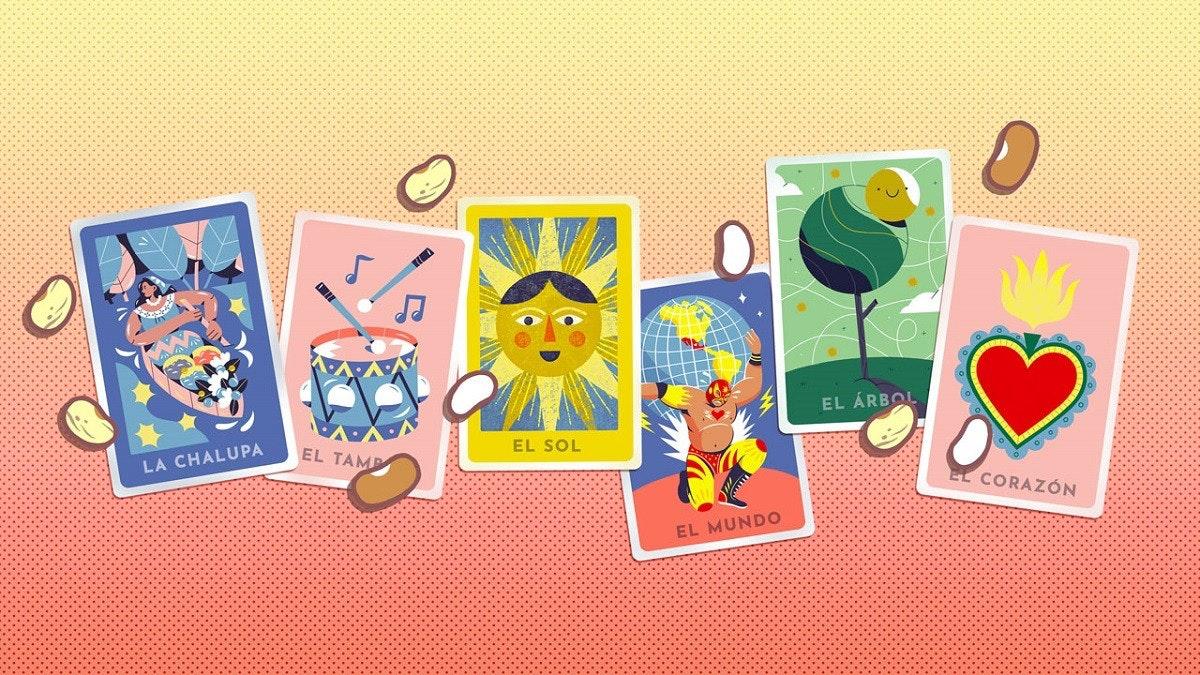 照片中提到了EL ÁRBOL、EL SOL、EL TAMP,包含了動畫片、西班牙聖誕彩票、多人視頻遊戲、答對了、插圖