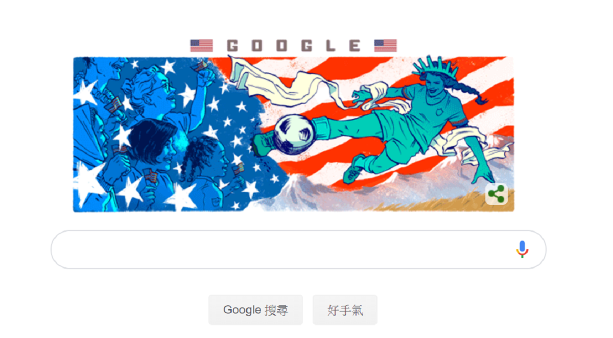 2019 FIFA Women's World Cup, United States women's national soccer team, France women's national football team, England women's national football team, Women's association football, Google Doodle, Spain women's national football team, Women's World Cup France 2019, , 2011 FIFA Women's World Cup squads, 2019 FIFA Women's World Cup, Font, Clip art, Graphic design, Fictional character, Illustration, Flag, Graphics