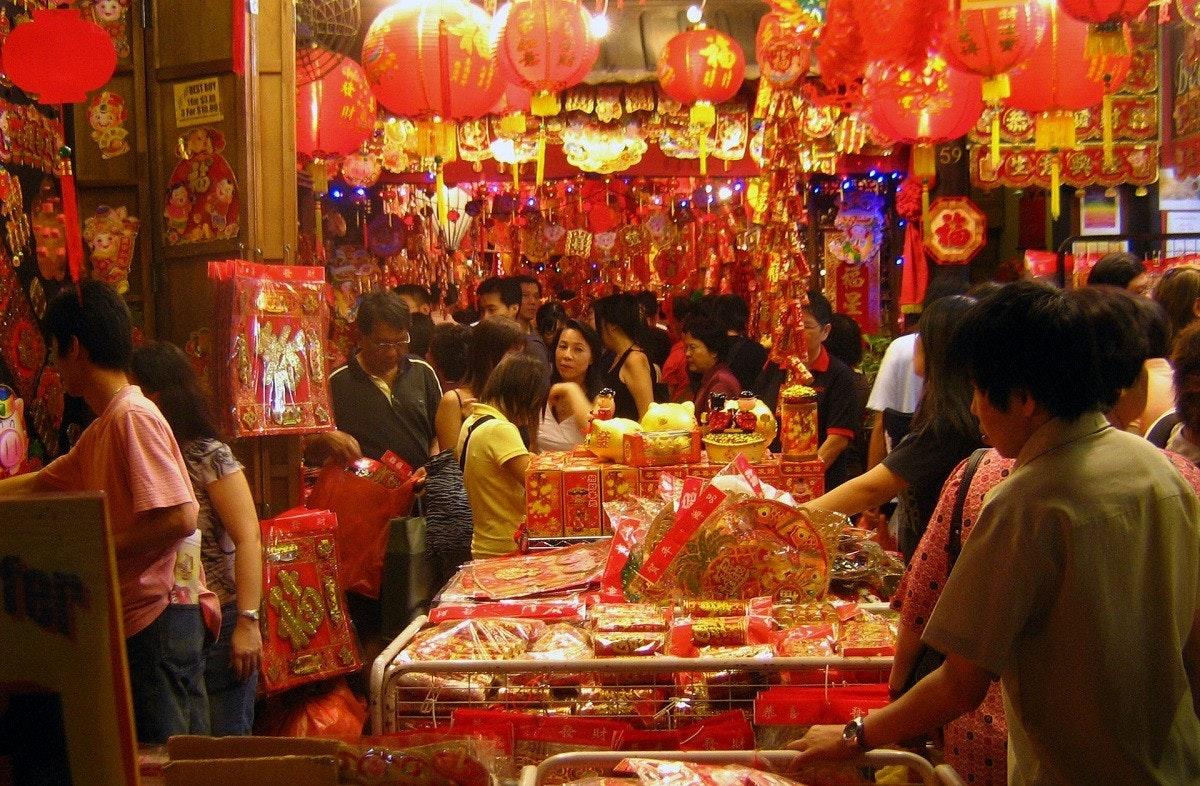 照片中提到了3 For S100、59,包含了春節市場、中國新年、新年、假日、節