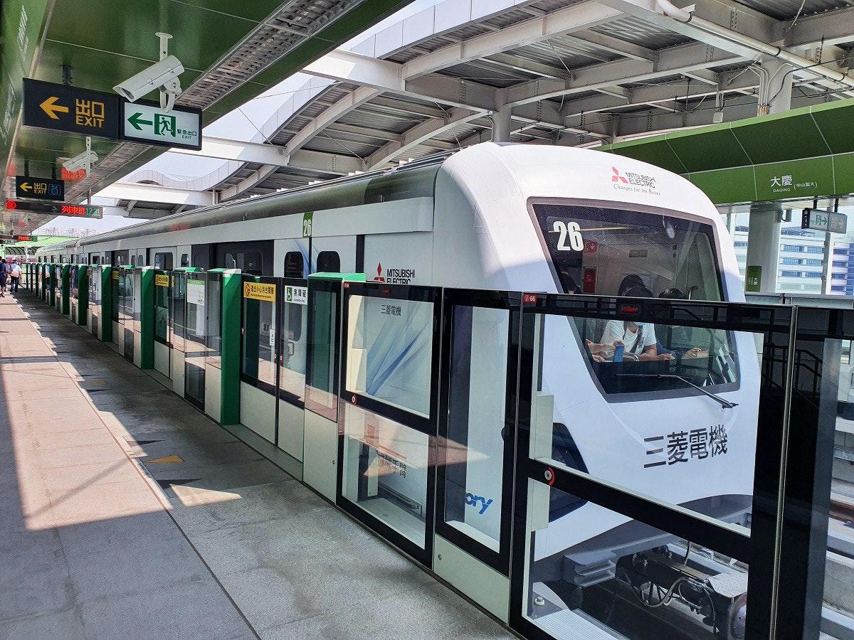 照片中提到了《點、EXIT、大慶,,跟三菱、卡恩設計有關,包含了都市區、鐵路交通、單軌、有軌電車、快速運輸