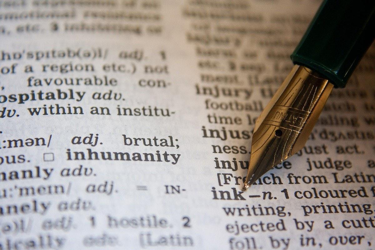 照片中提到了a, etc. 3、inkite、ho'spitab(a)1/ adj. 1,包含了字典寫作、詞彙、字典、法律英語、語言