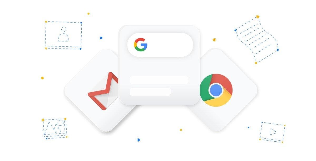 照片中跟谷歌、Chromebook有關,包含了iOS 14上的Google小部件、蘋果手機、iOS 14、的iOS、軟件小部件