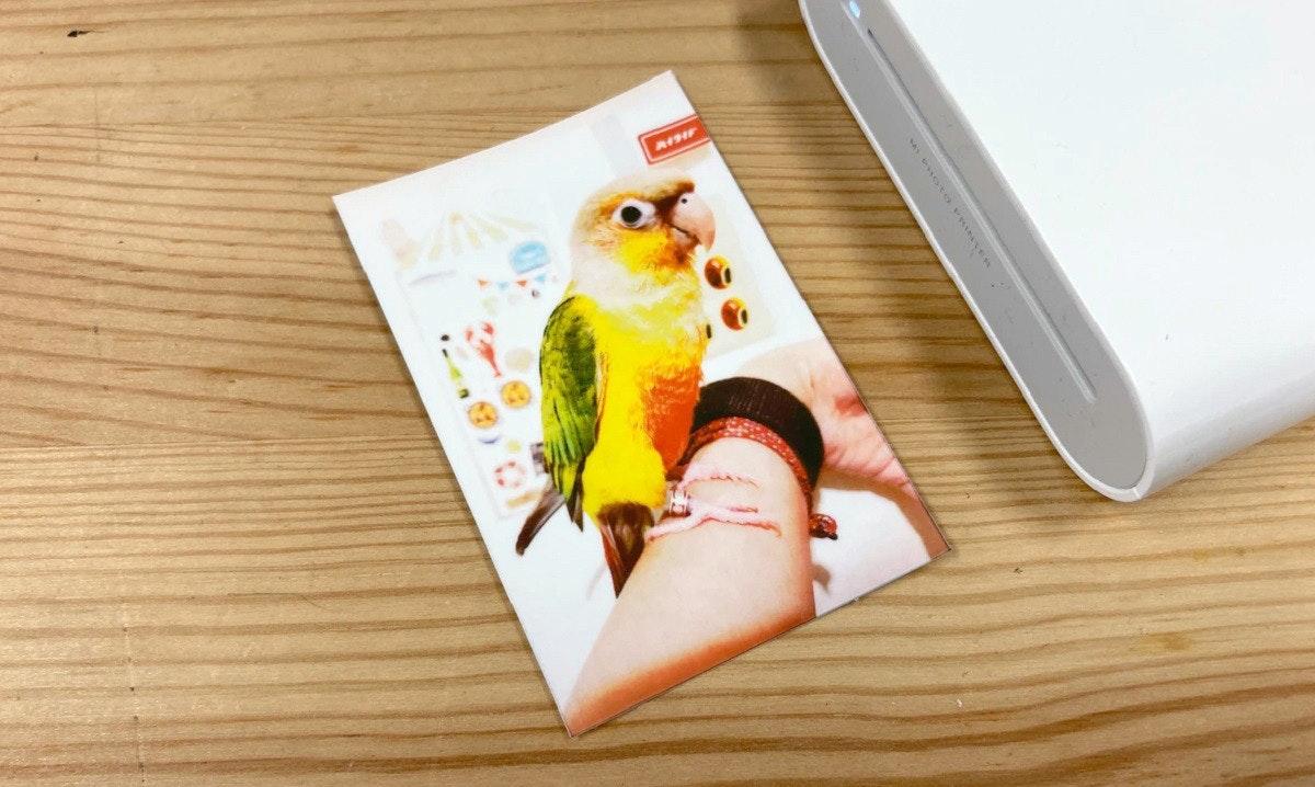 照片中提到了A HOTO RINTER,包含了照片、相紙、打印機、照片打印機、小米