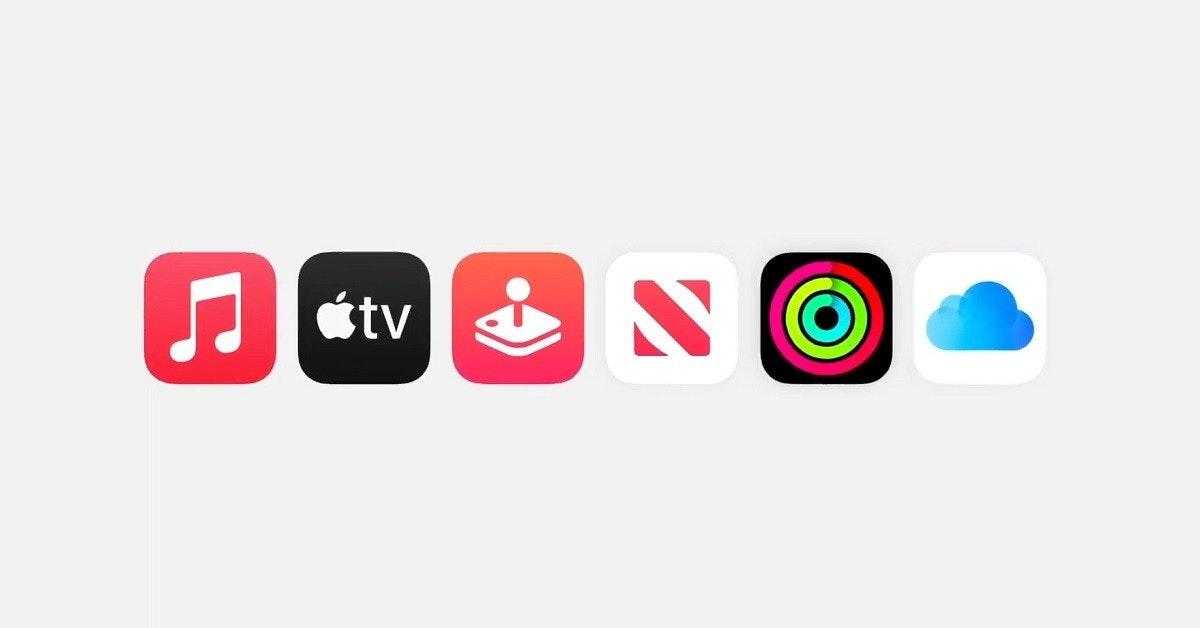 照片中提到了étv,跟蘋果電視、蘋果公司。有關,包含了音樂應用、商標、牌、產品設計、產品
