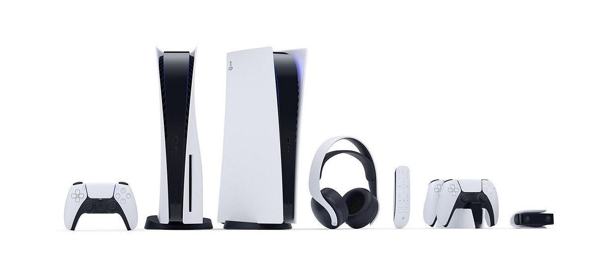 照片中包含了的PlayStation 5、索尼PlayStation 5、了索尼、Microsoft Xbox系列X、索尼PULSE 3D