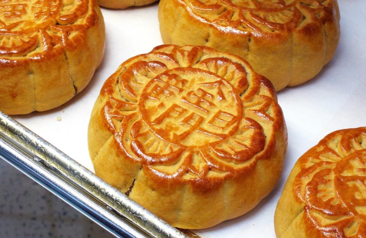 照片中包含了中國月餅、月餅、中國菜、蛋糕、中秋節