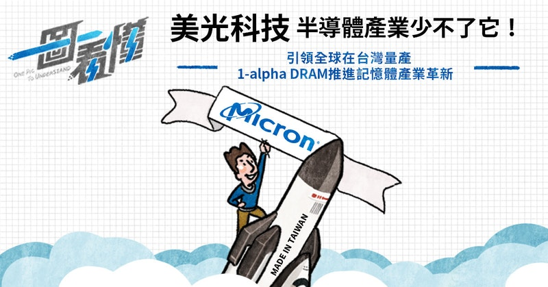 一圖看懂 半導體產業少不了它!美光科技引領全球在台灣量產1-alpha DRAM,推進記憶體產業革新