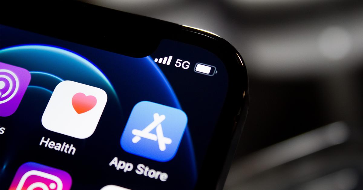 照片中提到了ll 5G、Health、App Store,跟開放大學、頭有關,包含了未註入的應用程序、移動應用、未註射、應用商店、應用商店