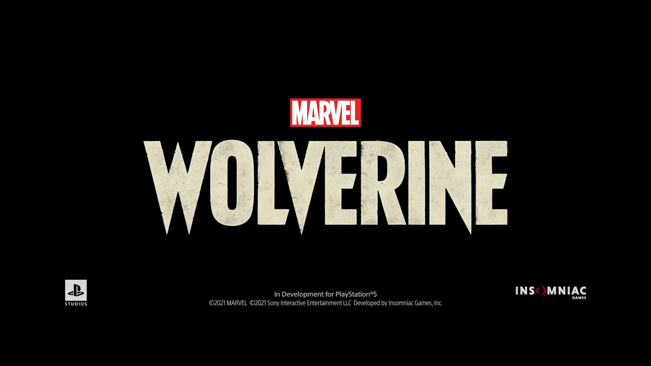 照片中提到了MARVEL、WOLVERINE、In Development for PlayStation®5,跟漫威漫畫有關,包含了電腦牆紙、的PlayStation、商標、培養、圖形