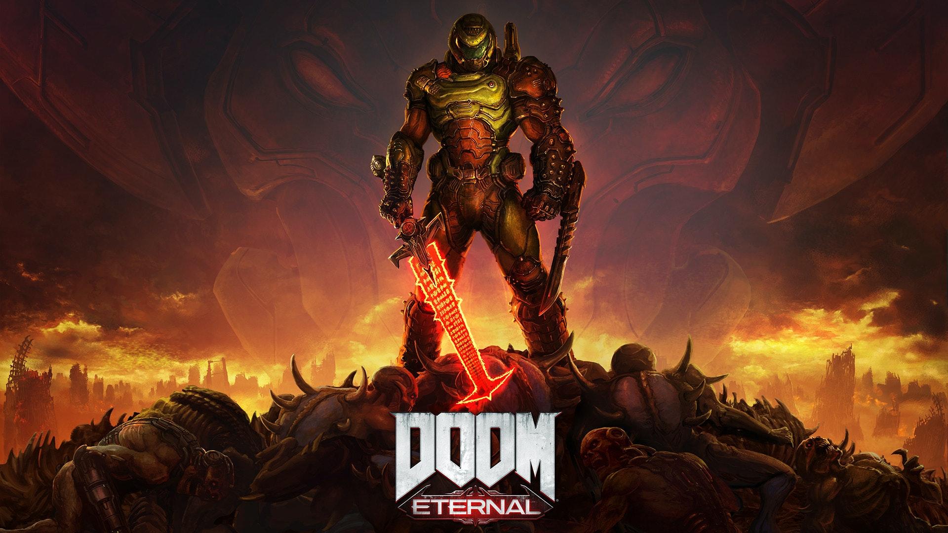 照片中提到了DODM、ETERNAL,跟貝塞斯達軟件有關,包含了永恆的毀滅戰士、永恆的毀滅戰士、毀滅戰士64、毀滅戰士