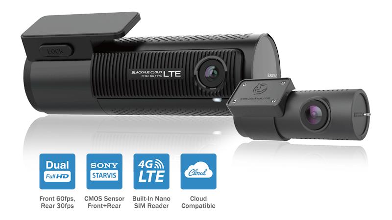 照片中提到了LOCK、BLACKVUE CLOUD、ROO LTE,跟雙有關,包含了儀表板凸輪、BlackVue DR750S-2CH、行車記錄器、BlackVue、相機