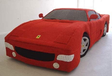 毛線織的Ferrari!!