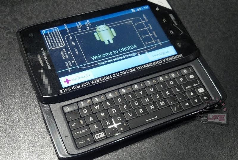 是Motorola Droid 4 現身?!(不同場加映併購案進度)這篇文章的首圖