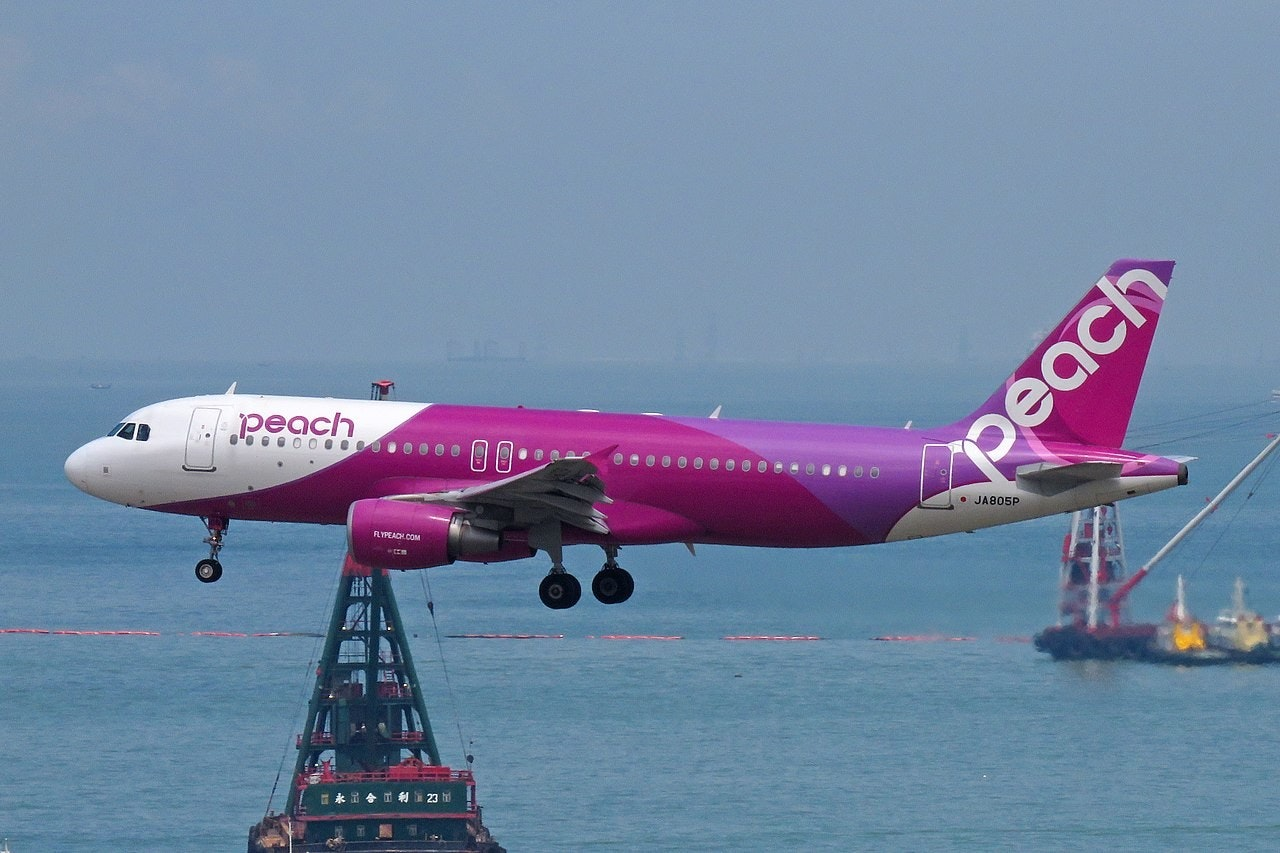 Kansai International Airport, Peach Aviation, Aviation, Kaohsiung International Airport, Low-cost carrier, Airbus, Airline, Airbus A320 family, Airport terminal, Vanilla Air, Peach Aviation, Airline, Air travel, Airplane, Airliner, Aviation, Flap, Aircraft, Aerospace engineering, Vehicle, Flight