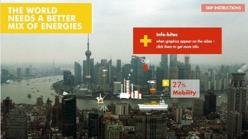Shell(殼牌)所拍的全球能源互動廣告,簡單不失有趣