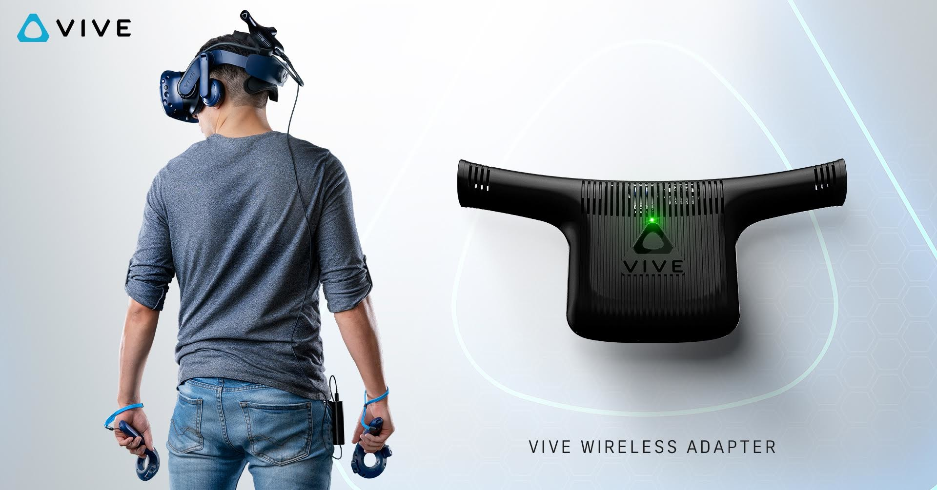 HTC Vive, Wireless, , HTC, Headset, Virtual reality, TRAPPED: A VR Detective Story, HTC Vive - Virtual Reality Headset, Wireless network interface controller, Virtual reality headset, HTC Vive, product, shoulder, product, t shirt, arm, audio equipment, technology, neck, audio, joint