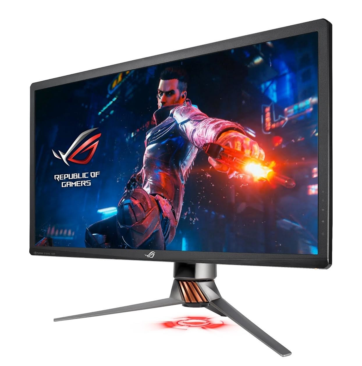 ROG Swift 4K HDR Gaming Monitor PG27UQ, Nvidia G-Sync, Computer Monitors, IPS panel, ASUS, , Ultra-high-definition television, 4K resolution, Refresh rate, High-dynamic-range imaging, asus pg27uq, technology, screen, display device, computer monitor, product, led backlit lcd display, television set, lcd tv, television, display advertising