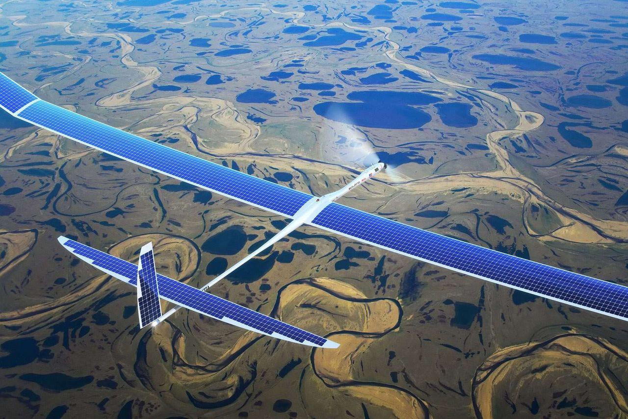 是Google 傳將以 Project SkyBender 以無人太陽能飛機部屬毫米波 5G 網路這篇文章的首圖