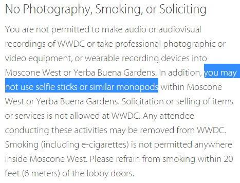 是自拍棒惹人厭!?蘋果規定 WWDC 禁用自拍棒這篇文章的首圖