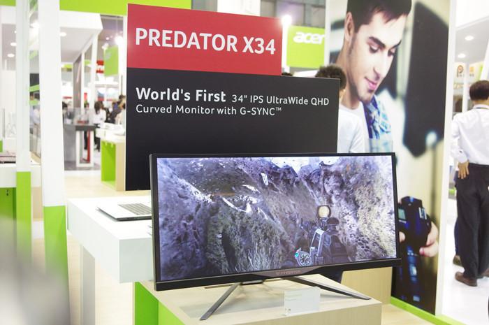 是Computex 2015 : 看來曲面 21:9 螢幕是電競趨勢, Acer 展出 Predator X34 曲面 G-Sync 螢幕這篇文章的首圖