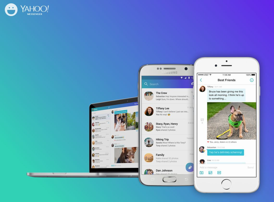 是Yahoo Messenger 全新改版,提供跨 Android 、 iOS 與網頁平台選擇這篇文章的首圖