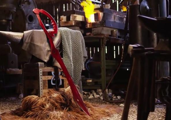是即便是動漫中的刀劍用 3D 列印真的太遜了,鐵匠團隊用一堆剪刀打出 KILL la KILL 中的片太刀剪這篇文章的首圖