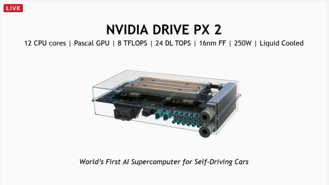 CES 2016 : NVIDIA 發表新一代自動駕駛模組 Drive PX 2 ,採 12 核 CPU 搭配 Pascal GPU