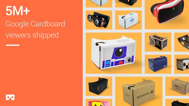 是Google Cardboard 已經有 500 萬個出貨!這篇文章的首圖