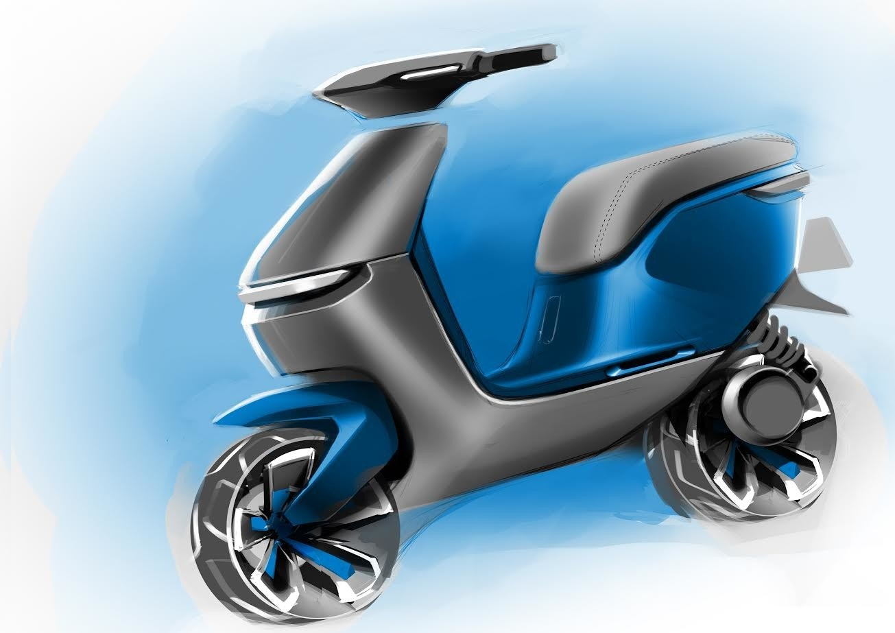 Wheel, Car, Scooter, Motorcycle accessories, Motorized scooter, Automotive design, Product design, Motorcycle, Motor vehicle, Product, motorcycle accessories, motor vehicle, scooter, automotive design, product, product, motorcycle accessories, product design, wheel, vehicle, electric blue