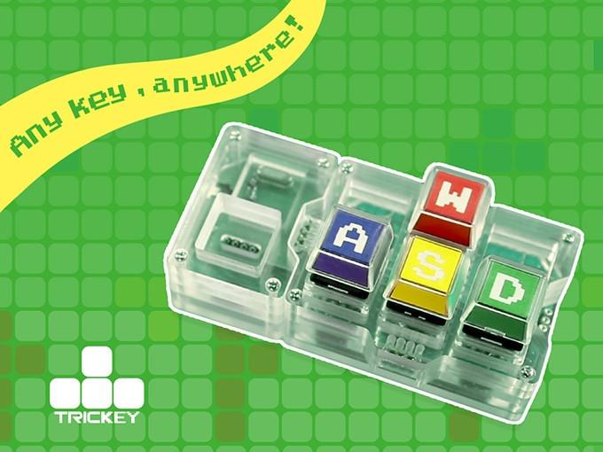 是使創意工作者桌面簡化的小玩意,只有六個按鍵的 Trickey Key 積木鍵盤這篇文章的首圖