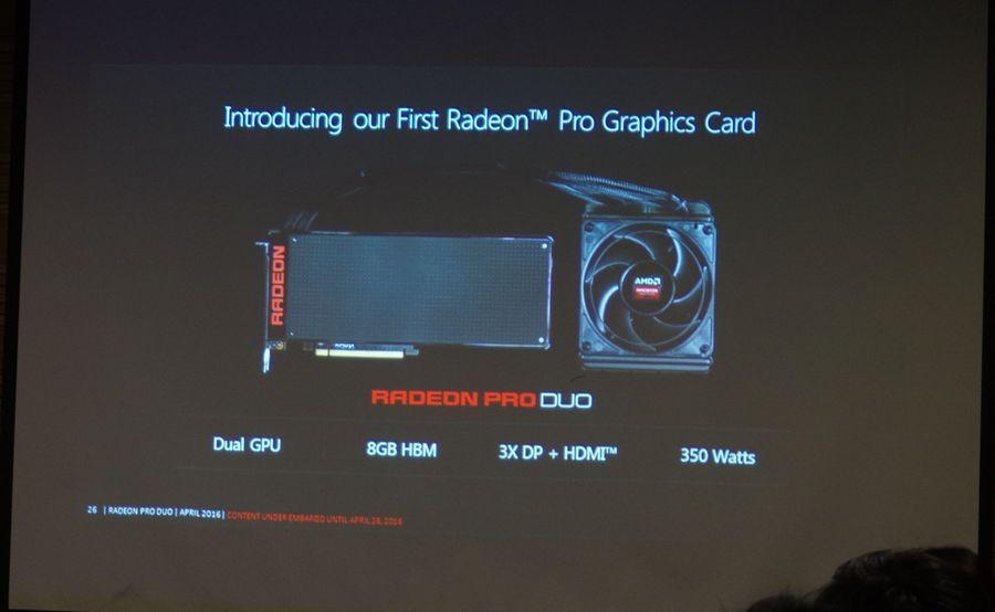 是抗衡 TITAN X , AMD 單卡雙芯的 Radeon Pro Duo 將於 4 月 26 日推出這篇文章的首圖