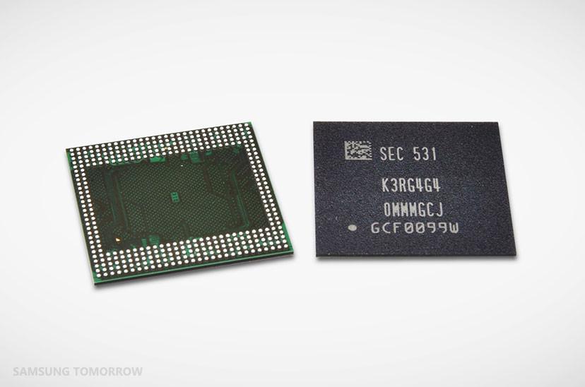 是三星宣布 2016 年初將推出 12Gb 之 20nm 行動版 LPDDR4 ,並提供 3GB 與 6GB 兩種封裝這篇文章的首圖