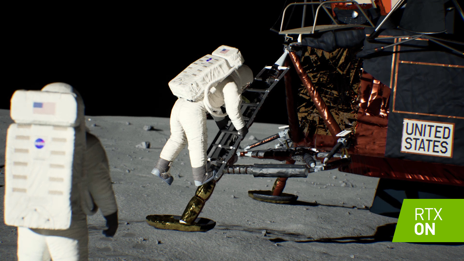 Ray tracing, Apollo 11, Nvidia RTX, Moon landing, Graphics processing unit, Nvidia, , Apollo program, Rendering, Graphics Cards & Video Adapters, Ray tracing, Astronaut, Space, Vehicle, Action figure