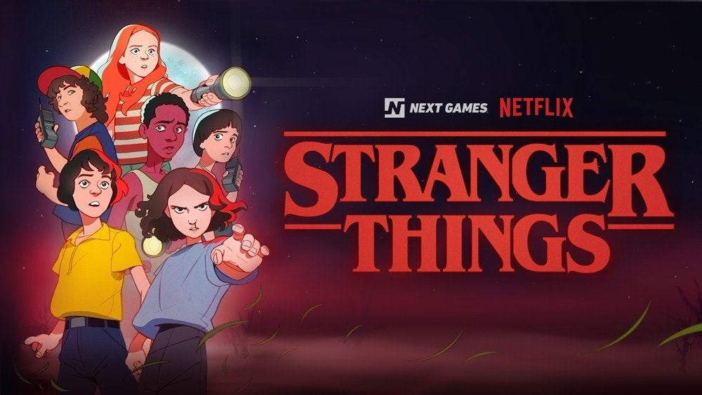 Stranger Things, Game, , Video Games, Mobile game, Stranger Things: The Game, Role-playing game, Fortnite, Mobile Phones, , Stranger Things, Cartoon, Animated cartoon, Animation, Font, Fun, Talent show, Graphics, Logo, Illustration, Movie