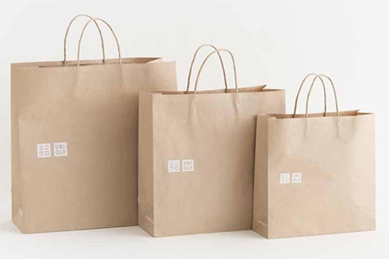 Uniqlo 將自今年 9 月起陸續以環保購物紙袋淘汰塑膠袋,未來將酌收購物袋費用
