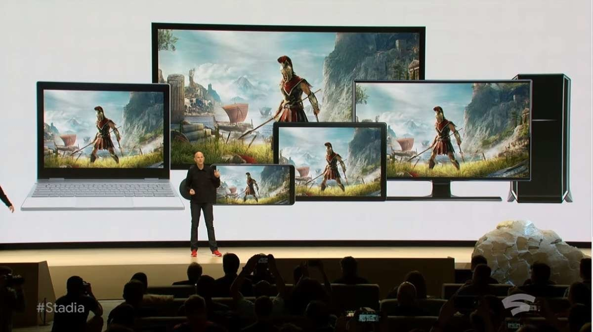 Assassin's Creed Odyssey, Video Games, Cloud gaming, Project Stream, , Game, , Google, Cloud computing, Streaming media, Cloud gaming, Display device, Art, Technology, Painting, Flat panel display, Electronic device, Room, Photography, Visual arts, Tourist attraction