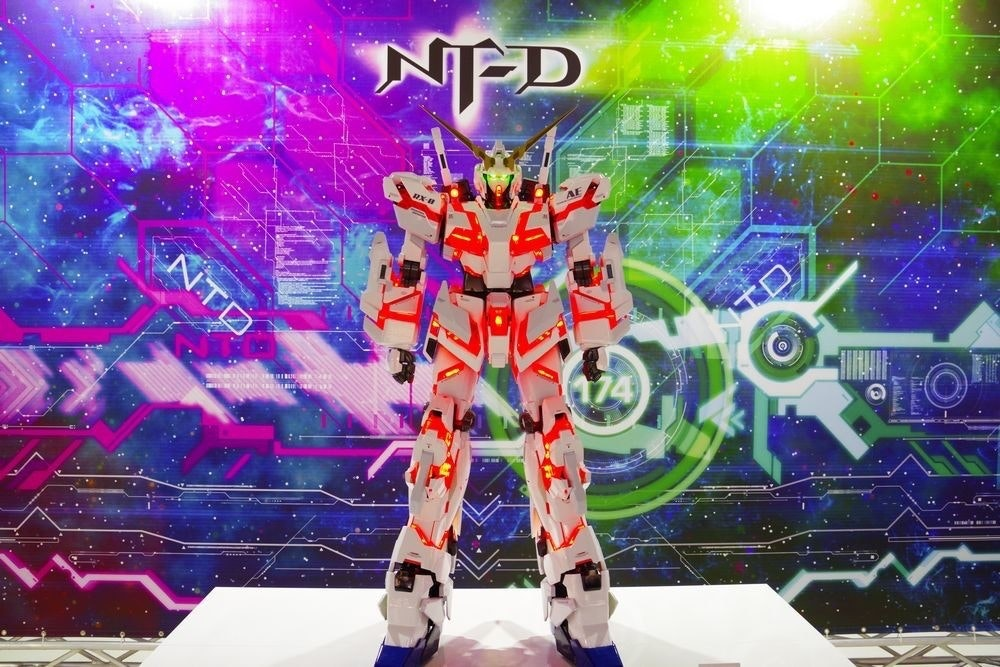 THE GUNDAM BASE TOKYO, Mobile Suit Gundam Unicorn, The Life-Sized Unicorn Gundam Statue, RX-0 独角兽高达, Gundam, Gundam model, Unicorn, Gundam, マスターグレード, , 1 20 ユニコーン, Fictional character, Animation, Technology, Graphic design, Action figure, Anime, Space, Style, Transformers, Stage