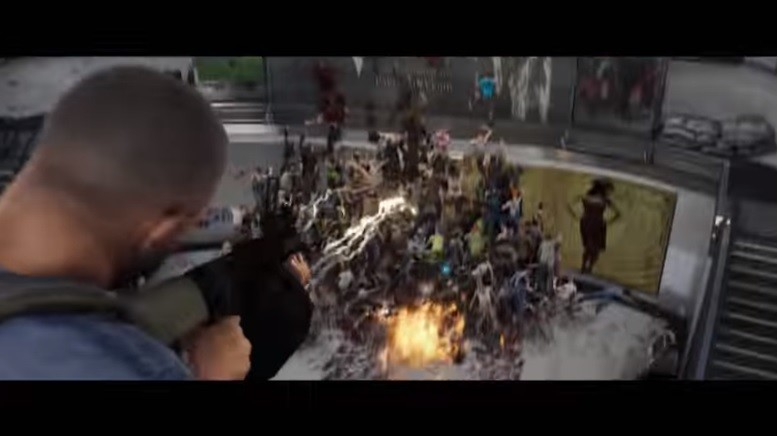 World War Z, Video Games, Saber Interactive, Zombie, Shooter game, God Wars: Future Past, Paramount Pictures, Trailer, , Sina Corp, crowd, Pc game, Crowd, Tree, Screenshot, Video game software, Fictional character, Games, Soldier