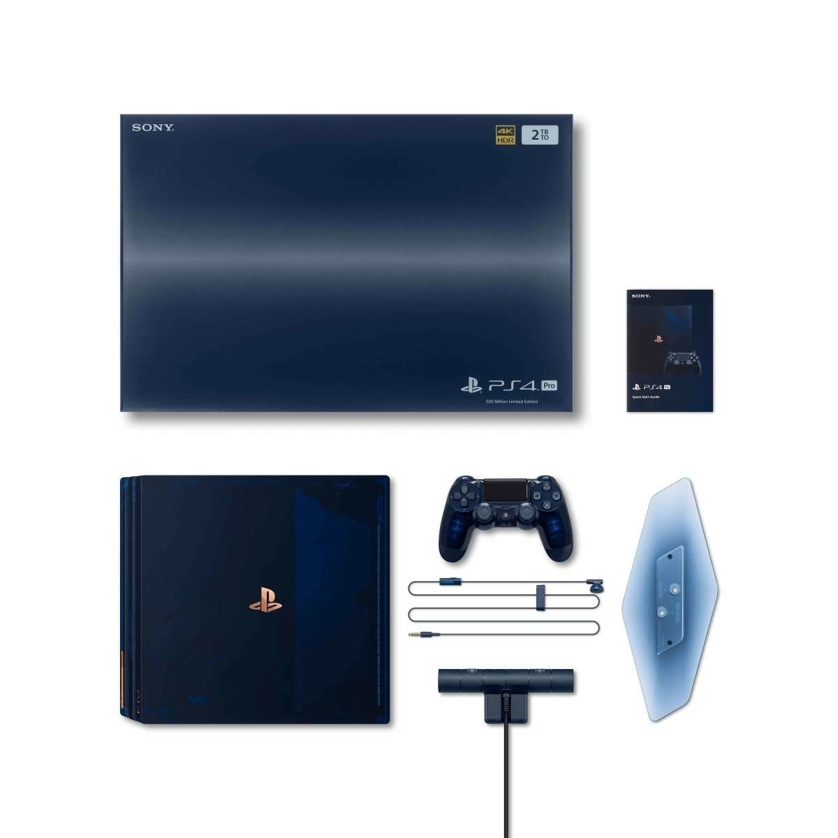 Sony PlayStation 4 Pro, Video Game Consoles, Sony Corporation, , PlayStation, Video Games, Sony PlayStation (Original), Sony DualShock 4, , Sony Interactive Entertainment, ps4 ™ pro 500 million limited edition, Gadget, Electronic device, Technology, Video game console, Playstation, Output device, Computer monitor accessory, Multimedia