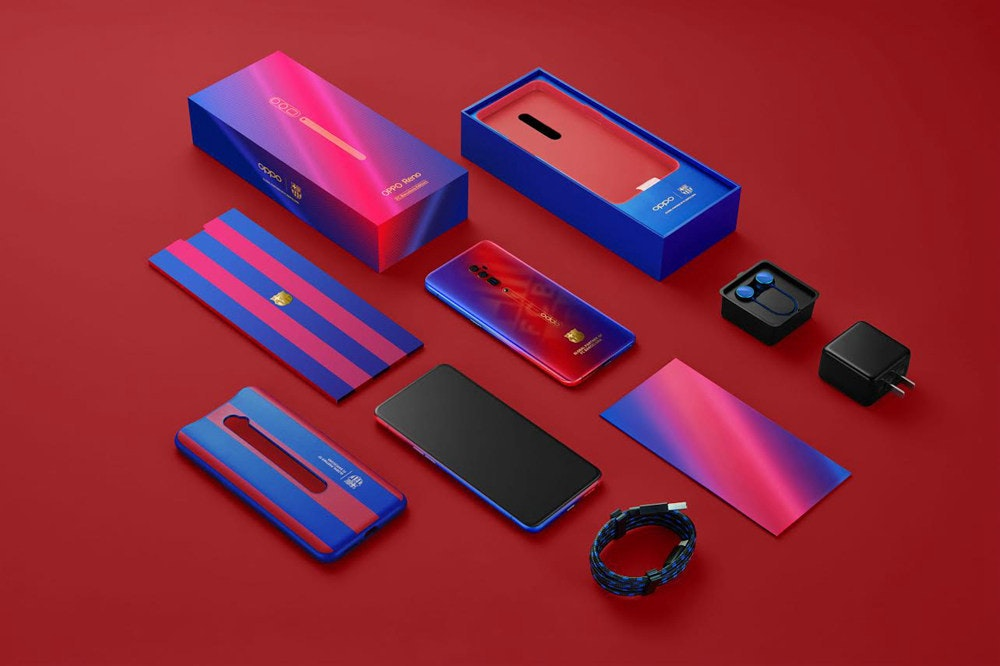 Oppo Reno, OPPO, Smartphone, , Oppo, Barcelona, 8gb RAM, ColorOS, 5G, Android P, Oppo Reno, Electric blue, Material property, Font, Technology