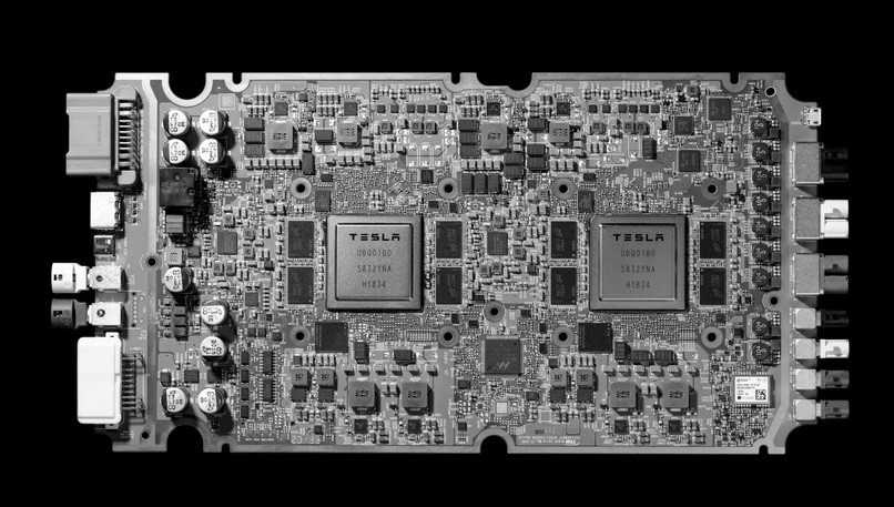 , Tesla, Inc., Electronics, , Computer, Integrated Circuits & Chips, Computer hardware, Samsung Galaxy, Self-driving car, 2019, monochrome photography, Electronics, Technology, Design, Electronic component, Electronic engineering, Electronic device, Font, Computer hardware, Monochrome, Architecture