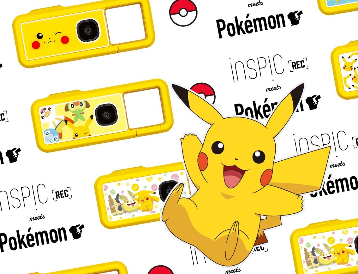 照片中提到了meets、Pokémon、İNSPIC RE,跟哈迪的、菲爾曼有關,包含了動畫片、佳能iNSPiC REC FV-100、剪貼畫、卡通/ M、卡通M