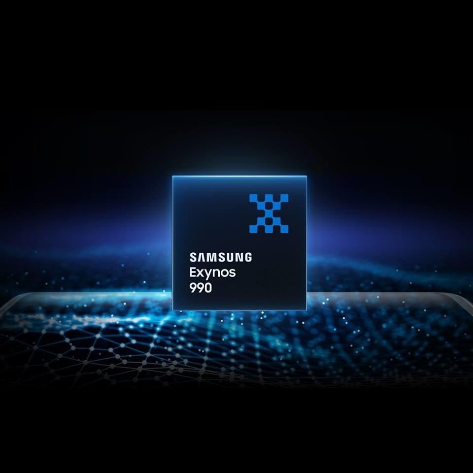照片中提到了SAMSUNG、Exynos、990,跟Fitbit有關,包含了exynos 992、三星銀河筆記20、金魚草865、三星Galaxy、Exynos