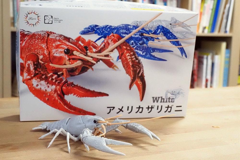照片中提到了White,包含了地圖、塑膠模型、藤見桃木、小龍蝦、路易斯安那州小龍蝦