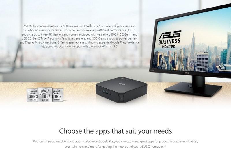 華碩在海外發表 Chromebox 4 ,採用第 10 代 Core 處理器