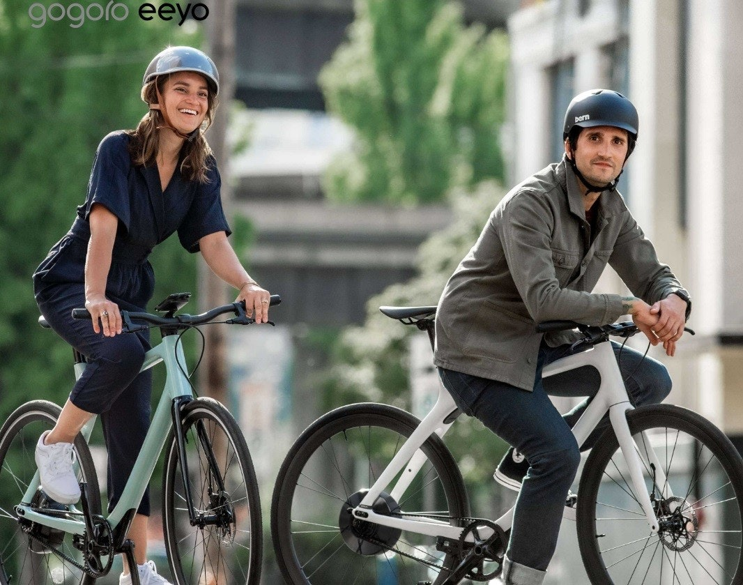 照片中提到了gogoro eeyo、pern,跟五郎郎有關,包含了公路自行車、公路自行車、自行車、越野自行車、混合動力自行車