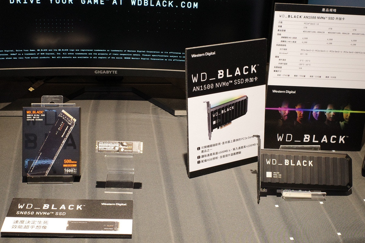 WD 新一代 Black SSD 陣容登台, PCIe Gen.4 之 SN850 、最快 Gen.3 AN1500 與 D50 外接擴充埠陸續在台上市