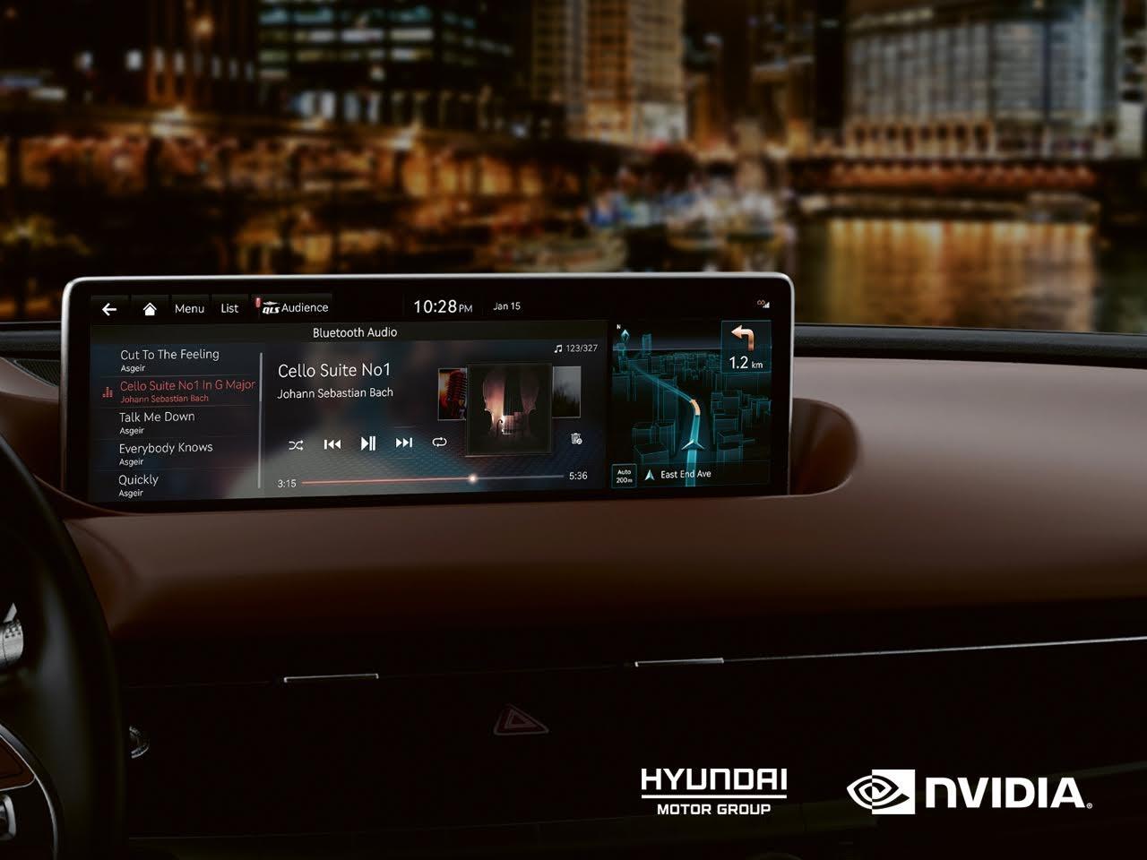 現代集團將自 2022 年起,為旗下 Hyundai 、 Kia 與 Genesis 導入 NVIDIA DRIVE 車載娛樂系統與 AI 平台;