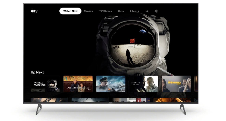 照片中提到了étv、Watch Now、Movies,包含了索尼ag9蘋果電視應用程序、索尼XH90、蘋果電視、了索尼、智能電視