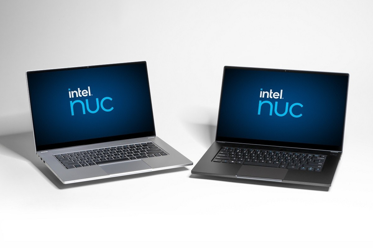 照片中提到了intel.、nuC、intel.,包含了上網本、下一個計算單元、上網本、英特爾、筆記本電腦